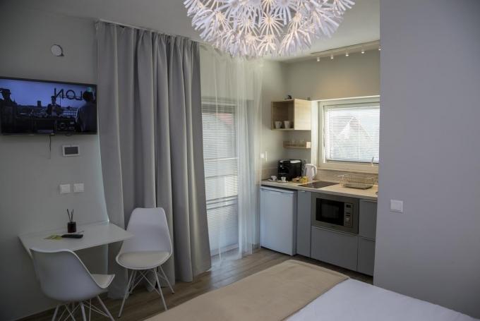 Apartman terasszal (1 franciaágy)